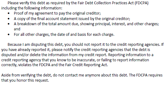Disputing And Verifying A Debt Dealing With Debt Collectors