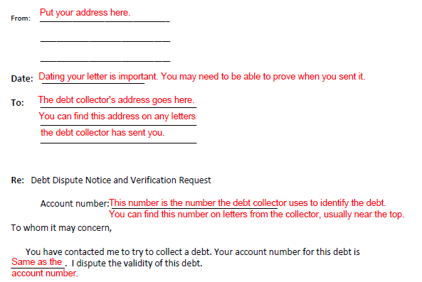 Disputing and verifying a debt dealing with debt collectors in the letter you can ask the debt collector why it thinks you owe the debt and you can ask for details about the debt collectors authority to collect spiritdancerdesigns Image collections